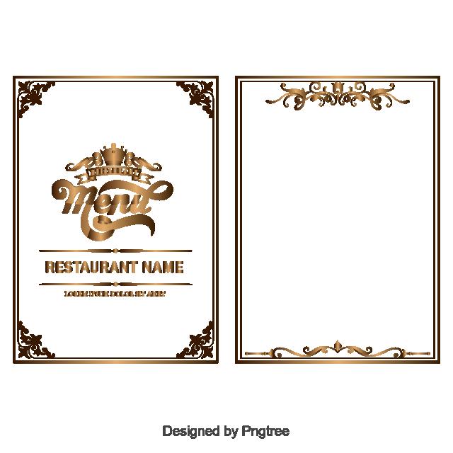 picture free download Border vector set png. Menu clipart menu frame.