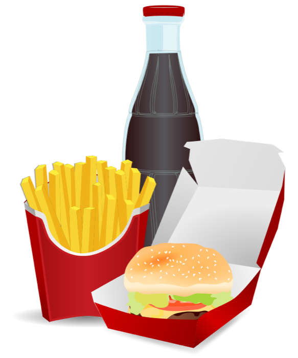 picture transparent library Slice clipart fry. Fast food pizza burgers