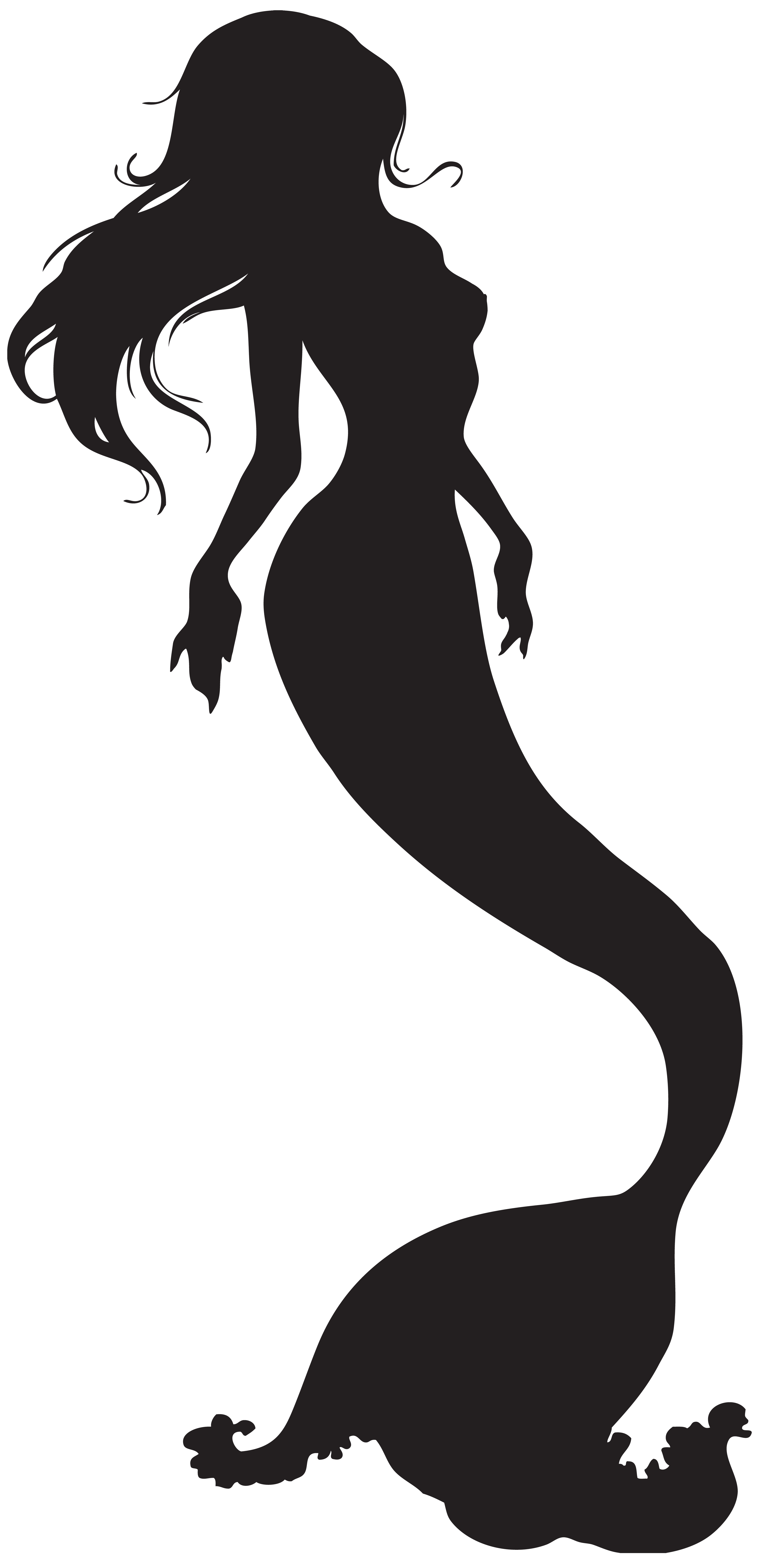 picture free Mermaid scalable vector graphics. Ariel svg black and white
