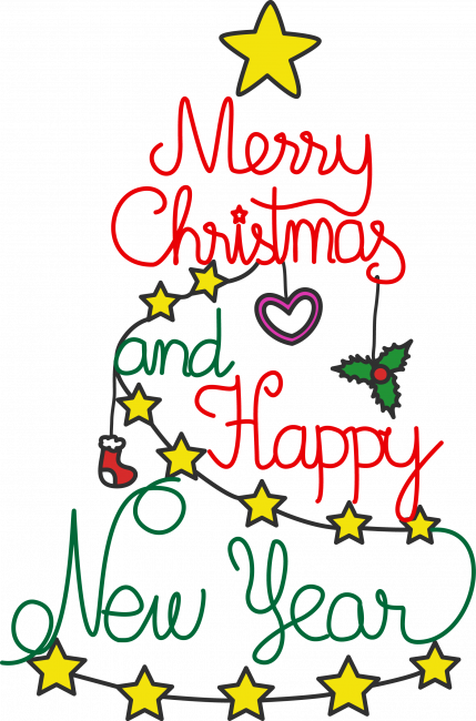 jpg freeuse stock Merry Christmas and Happy New Year Clipart