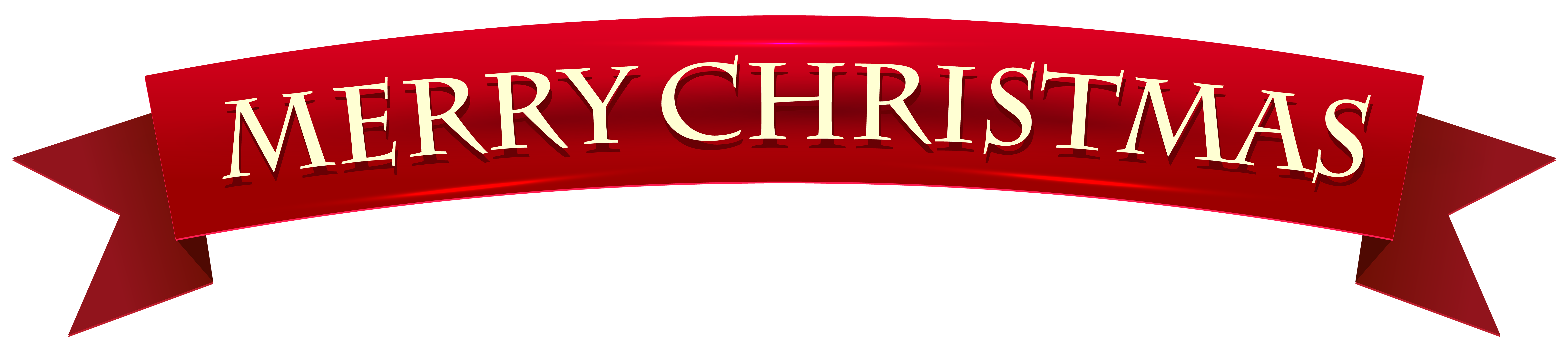 clip library Banner Merry Christmas Transparent Clip Art Image