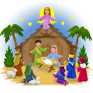 clip art Scene clip art free. Kids nativity clipart