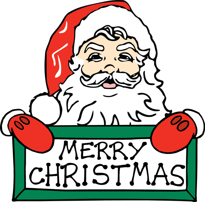 clipart royalty free download Merry Christmas ClipArt by Santa for Kids