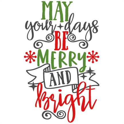 png transparent library Merry clipart copyright free. Bright phrase svg scrapbook.