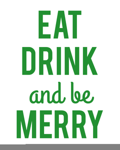 clip download Eat and be free. Merry clipart drink.