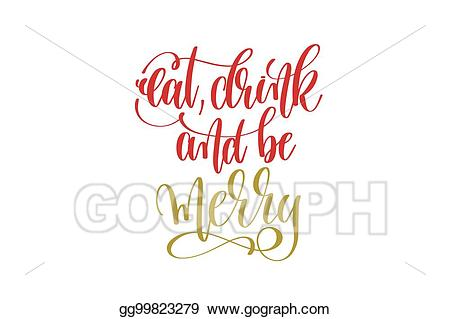 clip art free Merry clipart drink. Eps vector eat and.