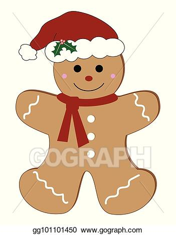 png library download Vector christmas man . Merry clipart gingerbread