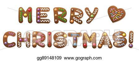 clip Merry clipart gingerbread. Vector art christmas eps
