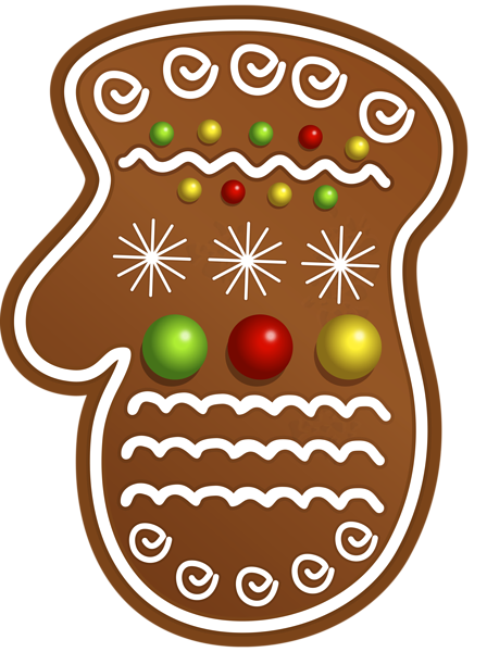 jpg transparent library Merry clipart gingerbread. Christmas cookie glove png
