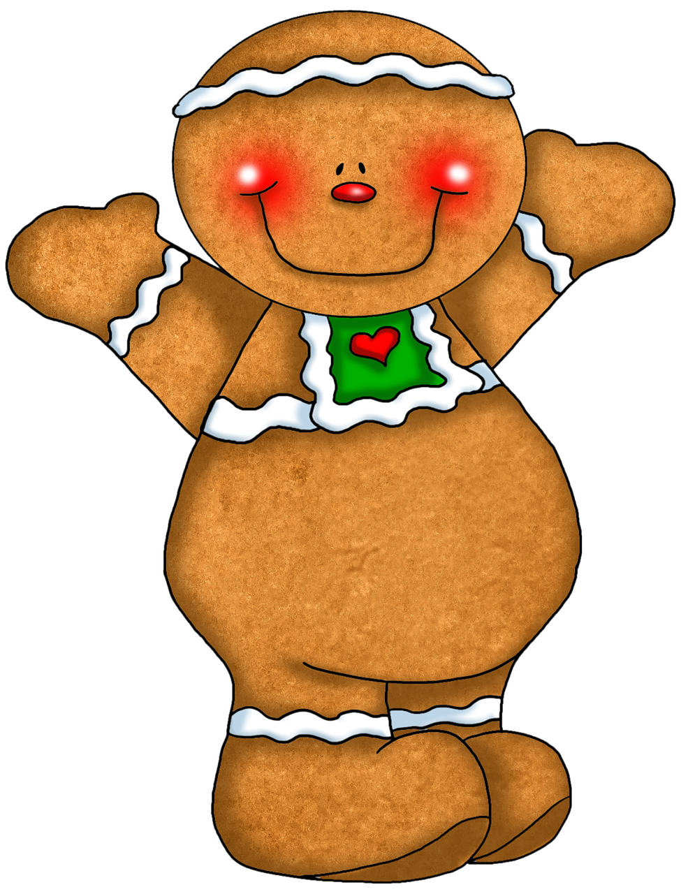 banner transparent Christmas ginger couple sl. Merry clipart gingerbread