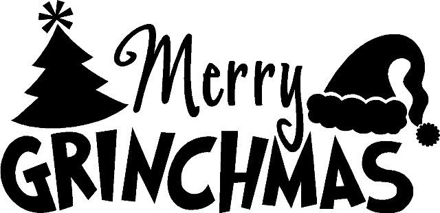 jpg library library Diy silhouette pattern grinch. Merry clipart grinchmas.
