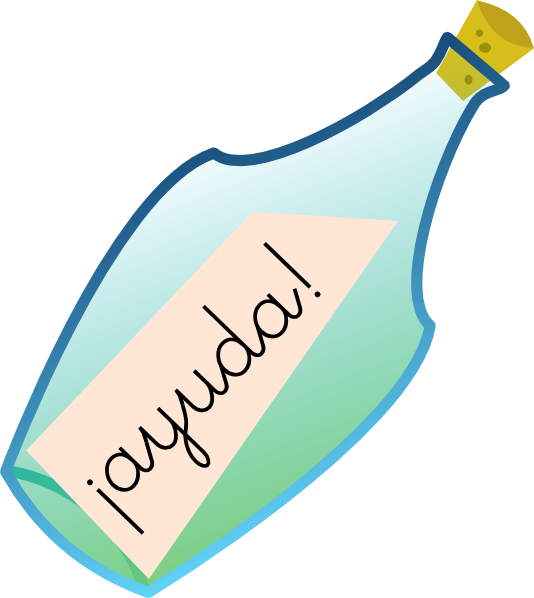 image free download Message In A Bottle Clip Art at Clker