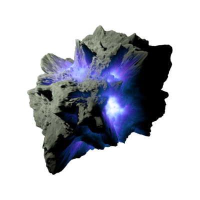 vector freeuse stock Asteroid purple space stock. Meteor transparent