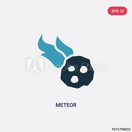 svg royalty free stock Meteor vector. Two color icon from