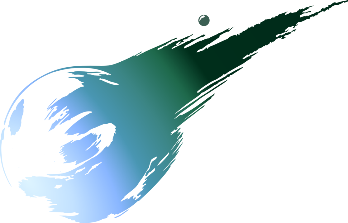 png black and white Meteor vector. Final fantasy vii logo