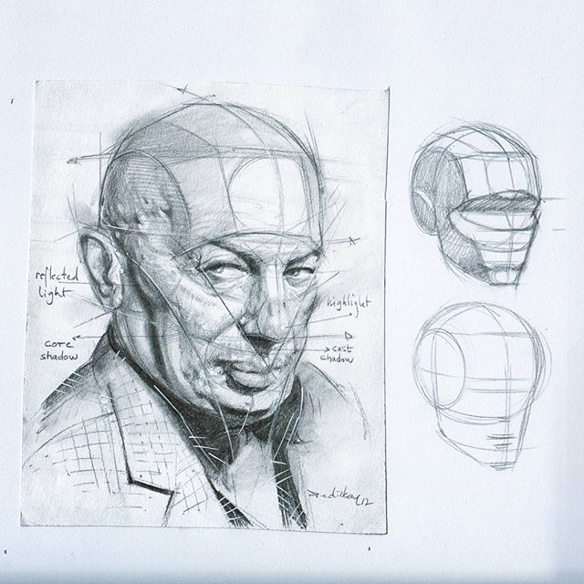 png Method drawing. Reilly portrait using photo.