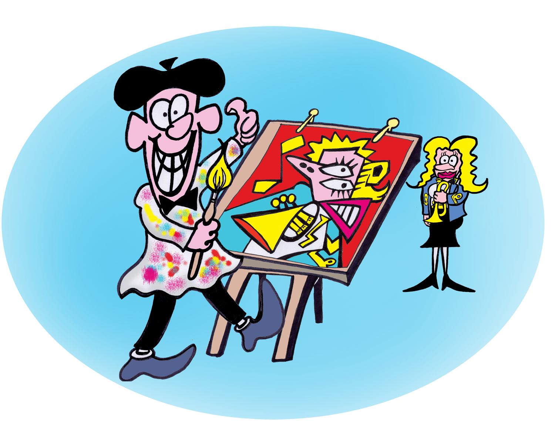 transparent stock Block drawing cartoon. Simple method to find