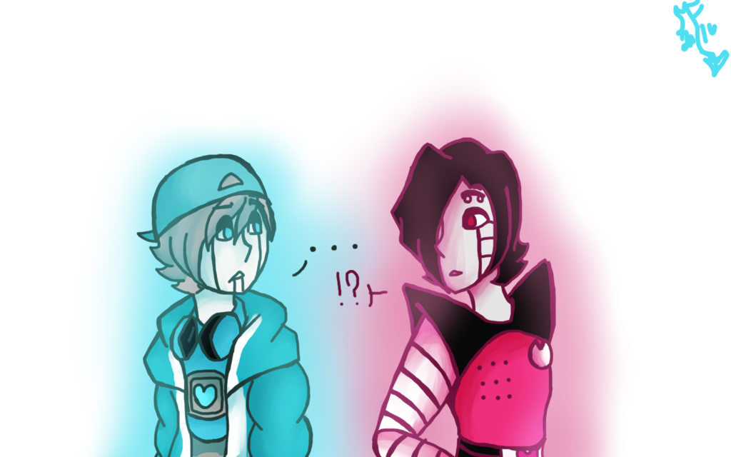 png black and white library Mettaton drawing nabstablook. Ut and us by