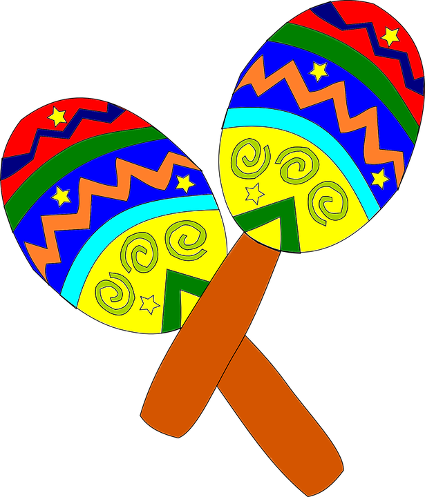 graphic library download Mexican clipart. Instrumentos musicais fiesta pinterest.