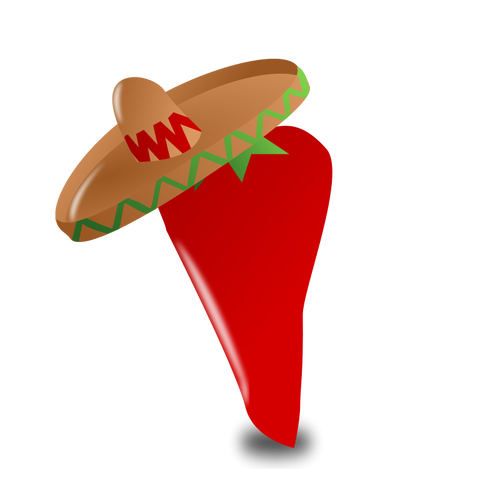clipart black and white download Mexican clipart ornament. Chili pepper free on.