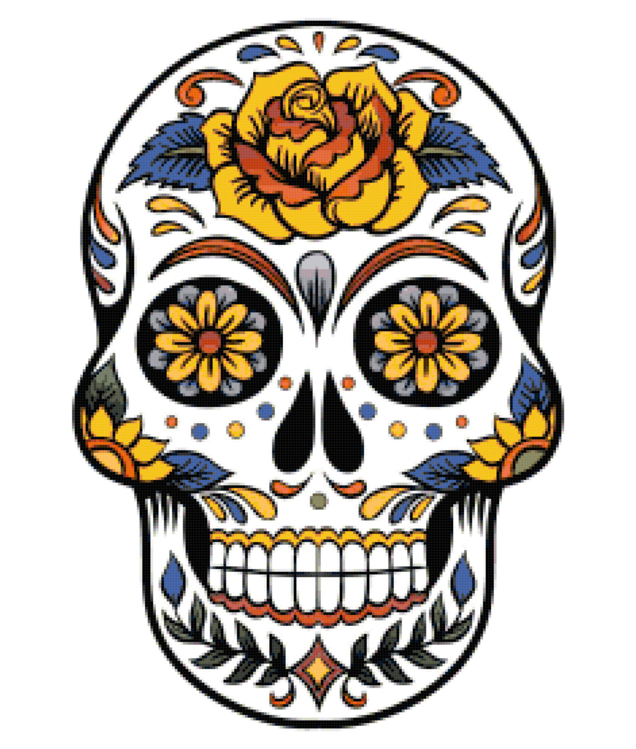 banner freeuse library Sugar skull clipart. Free mexican cliparts download