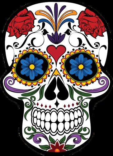 svg transparent stock Floral skull vector image