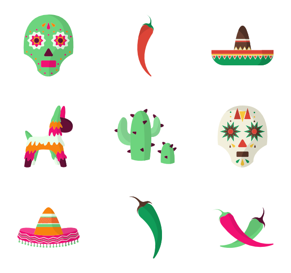 royalty free stock Mexican vector. Icons free