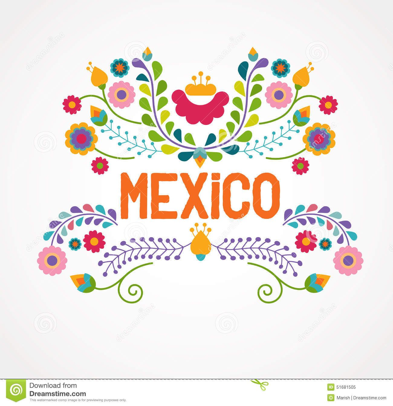 transparent download Mexico flowers pattern and. Mexican vector