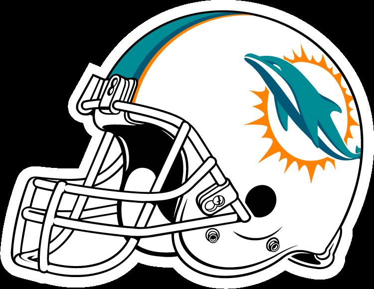 vector library stock Miami Dolphins Helmet Clipart