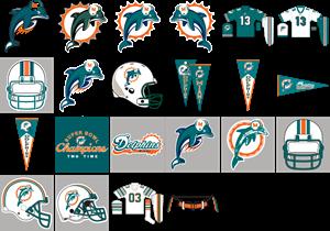banner royalty free Miami Dolphins Logo Vector