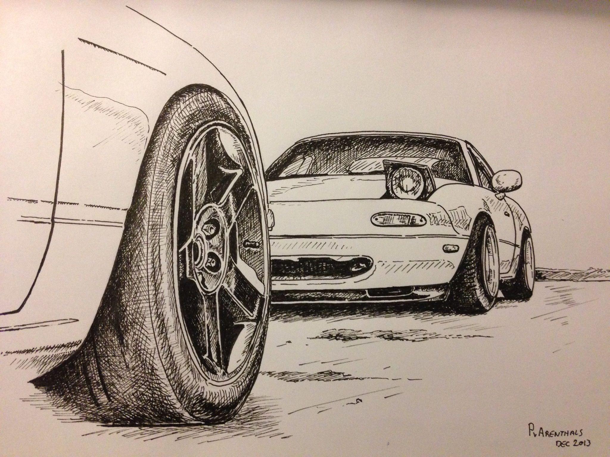 jpg library Miata drawing. Mazda mx cars roadster.