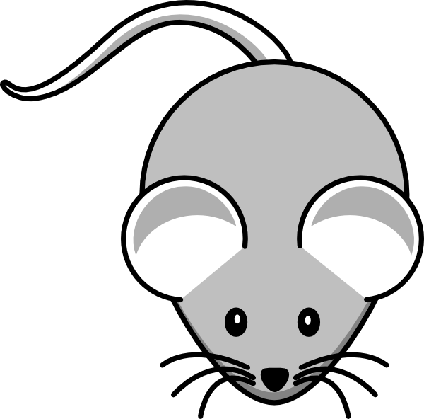 graphic library stock Mice clipart. Light gray mouse clip