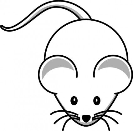 vector royalty free stock Mice clipart easy. Simple cartoon mouse clip.