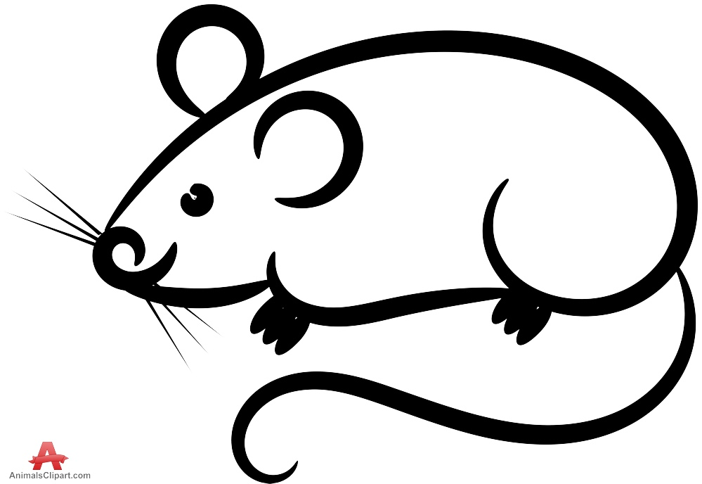 svg free download Mice clipart easy. Free mouse outline cliparts.