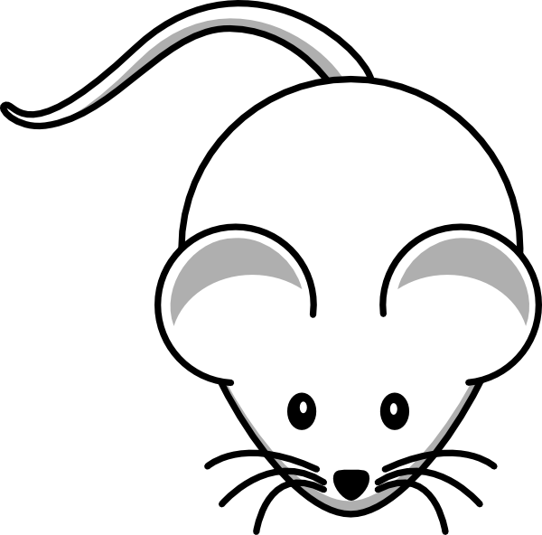 royalty free stock Simple cartoon mouse clip. Mice clipart easy.