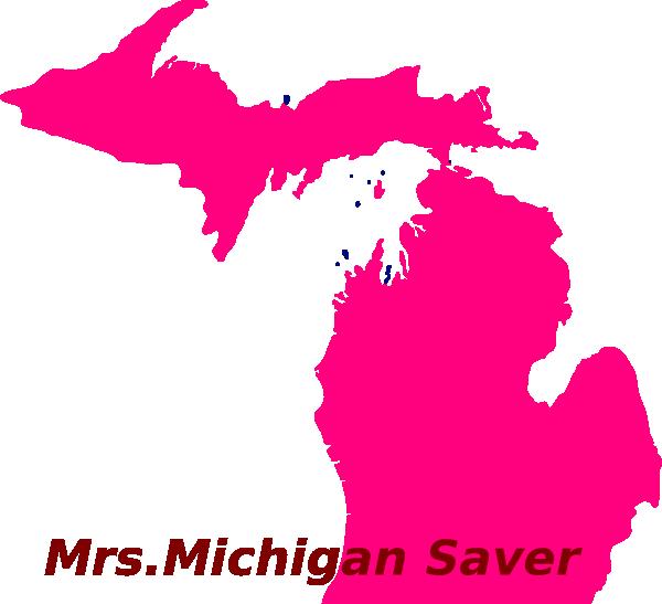 image free download Pink clip art at. Michigan clipart