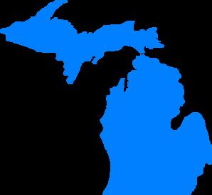 transparent download Blue at clker com. Michigan clipart clip art.