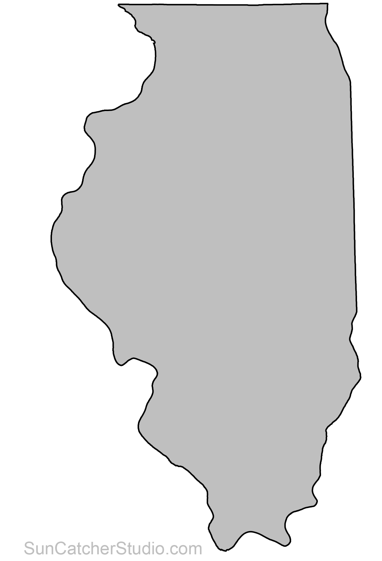 banner library stock Michigan clipart pattern. State outlines maps stencils.