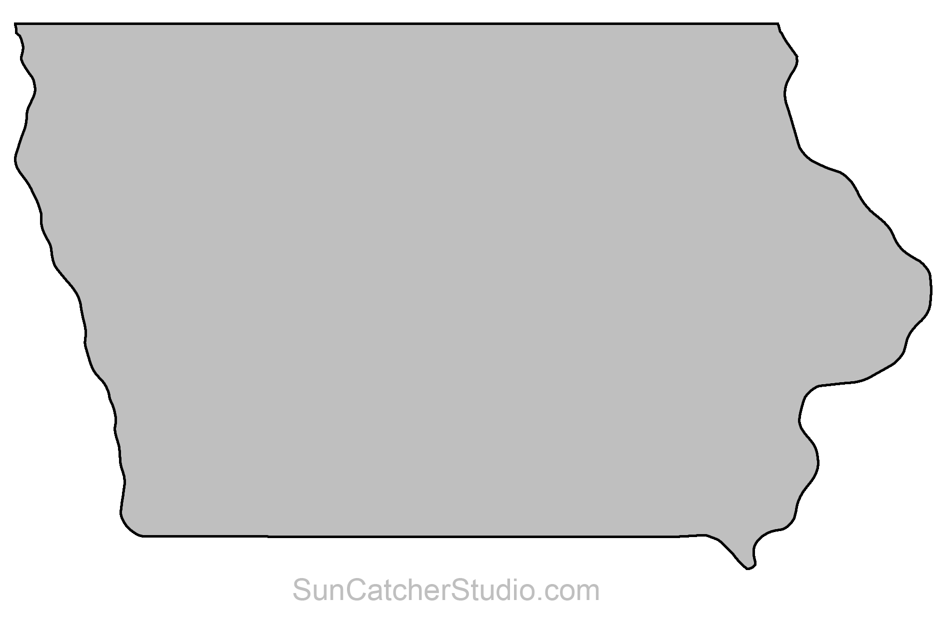 jpg royalty free library State outlines maps stencils. Michigan clipart pattern.