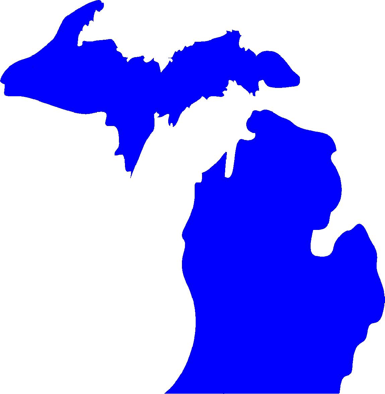 clip art black and white download January u s statehood. Michigan clipart pattern.