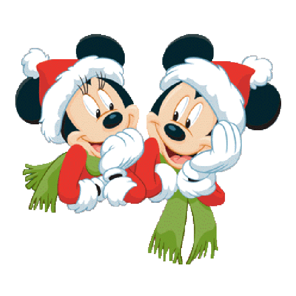 clipart black and white library Mickey Mouse And Friends Xmas Clip Art Images Free To Copy For Your