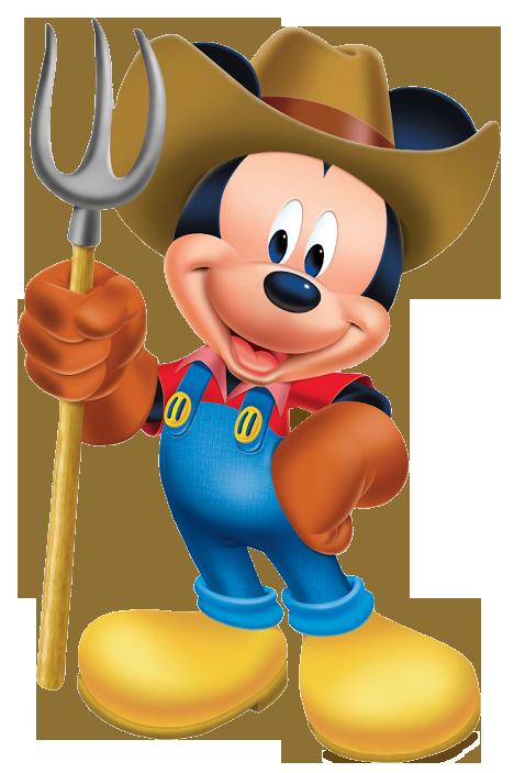 royalty free stock Gardener mouse wpitch fork. Mickey clipart farmer.