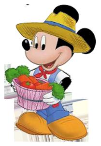 svg royalty free Gardener mouse wveggies. Mickey clipart farmer.