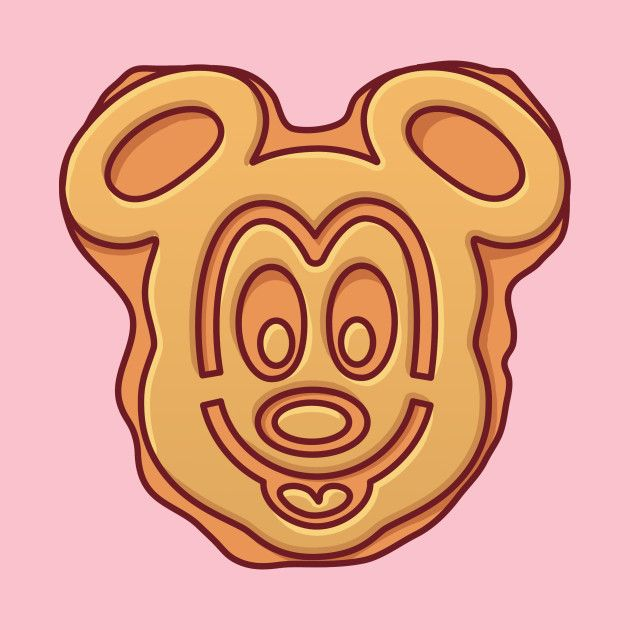 png download Disney food t shirt. Mickey waffle clipart