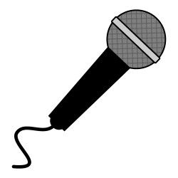 image stock Free from icontoon com. Microphone clipart.