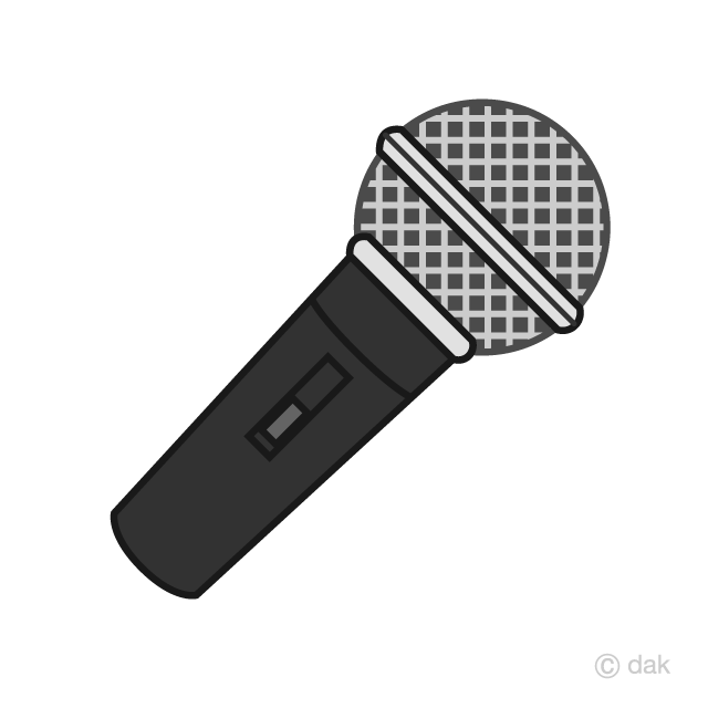 graphic transparent library Black free picture illustoon. Microphone clipart.