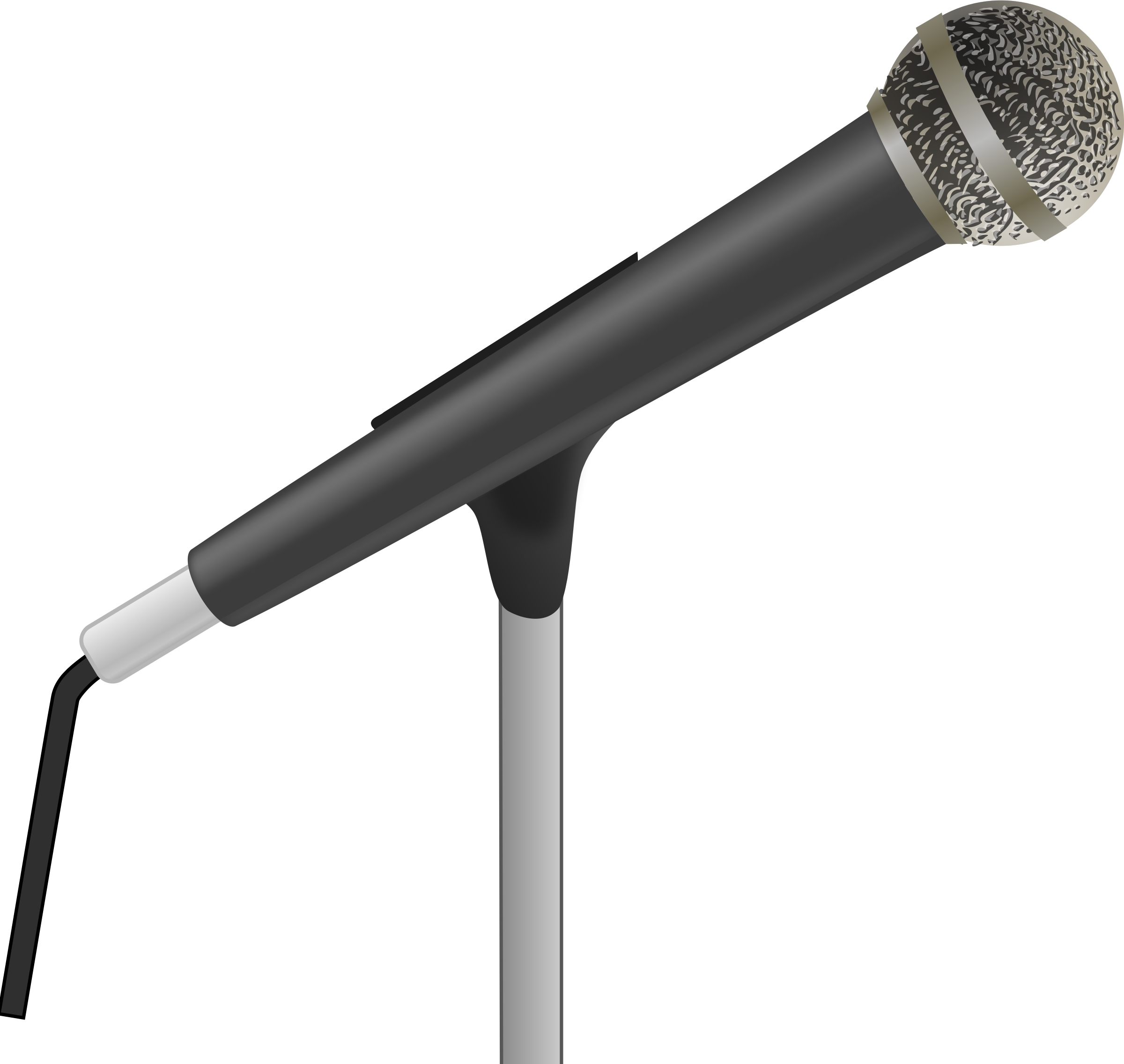 graphic transparent library Microphone clipart. .
