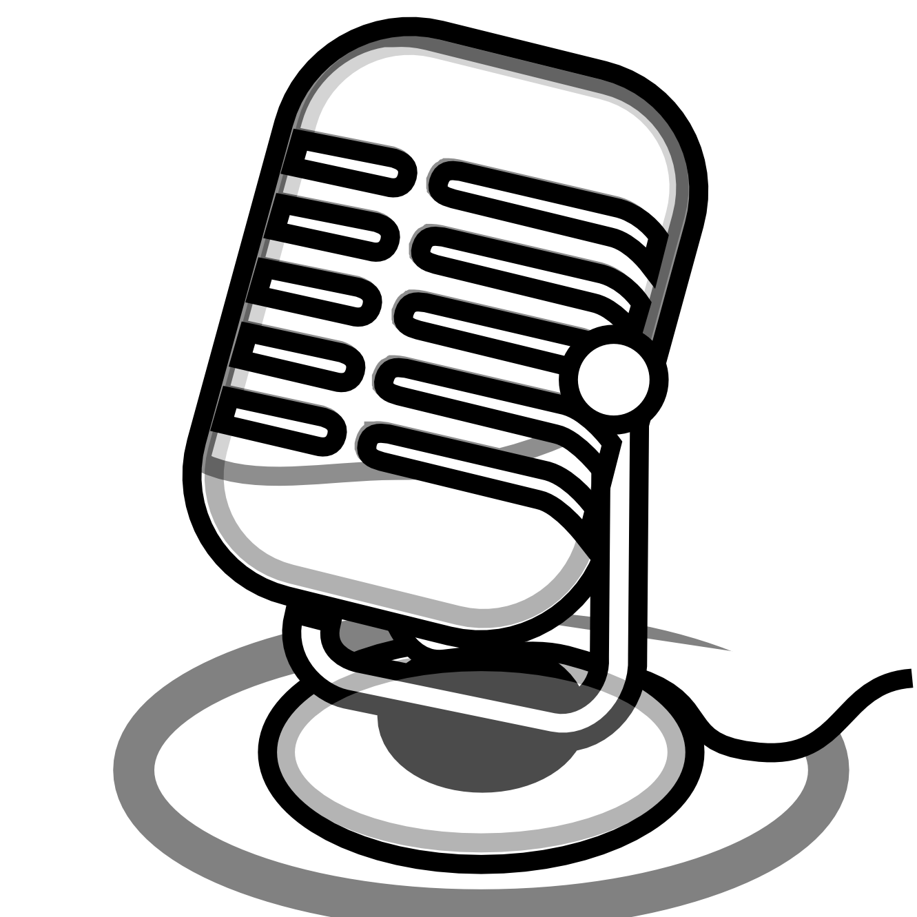 clip art freeuse download Microphone Clip Art Black And White