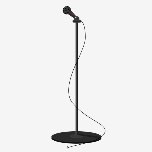 banner freeuse Png vector psd and. Microphone stand clipart.