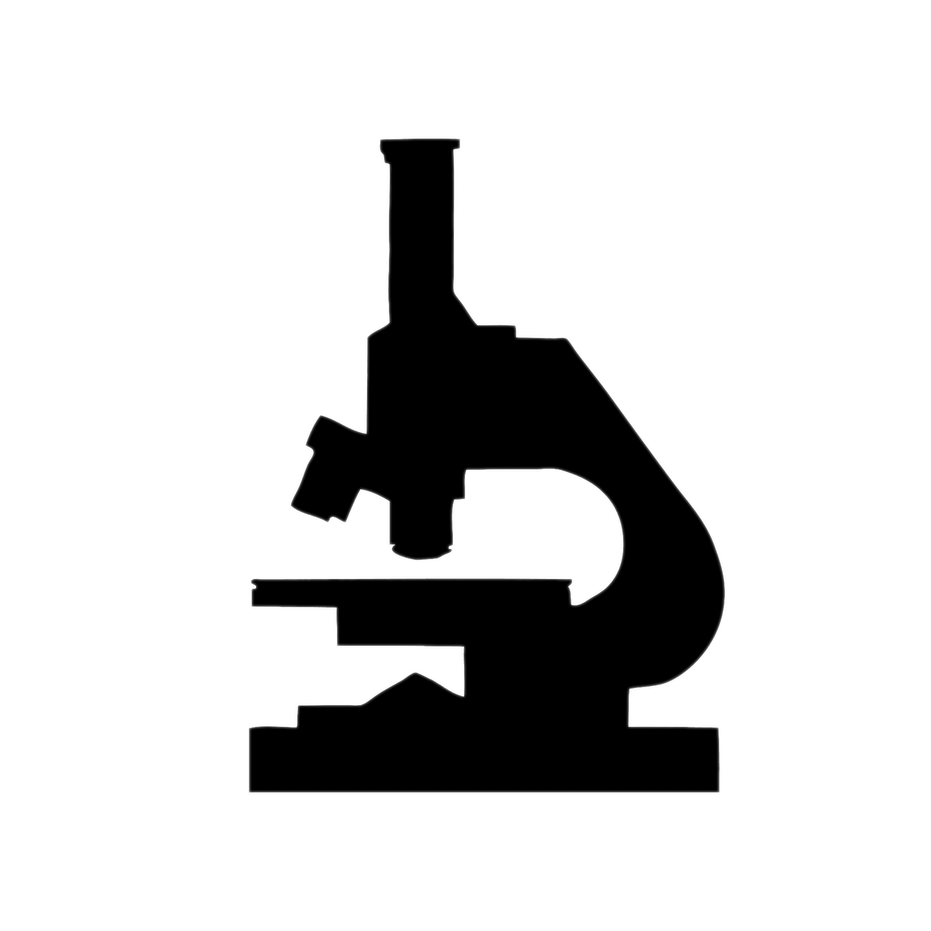image download Silhouette transparent png stickpng. Microscope clipart.